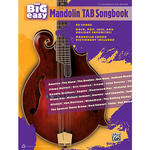 Alfred The Big Easy Mandolin TAB Songbook-thumbnail