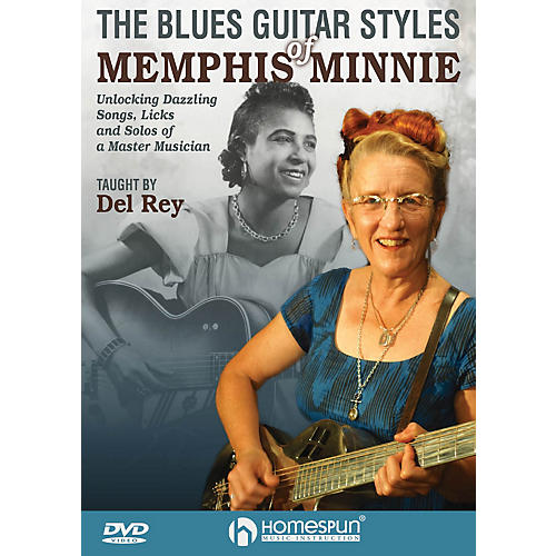 Homespun The Blues Guitar Styles of Memphis Minnie Homespun Tapes Series DVD Performed by Del Rey-thumbnail
