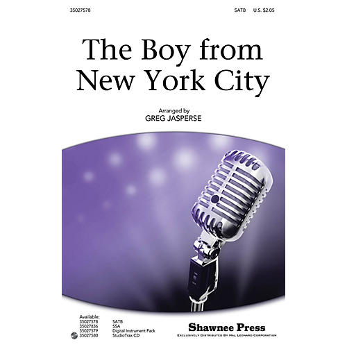 Shawnee Press The Boy from New York City SATB by The Manhattan Transfer arranged by Greg Jasperse-thumbnail