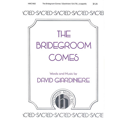 Hinshaw Music The Bridegroom Comes SSAATTBB composed by David Giardiniere