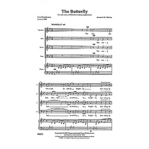 Transcontinental Music The Butterfly SATB composed by Anton Molina-thumbnail
