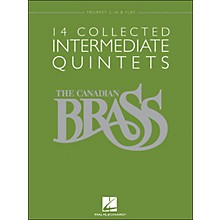 Hal Leonard The Canadian Brass: 14 Collected Intermediate Quintets - Trumpet 2 - Brass Quintet