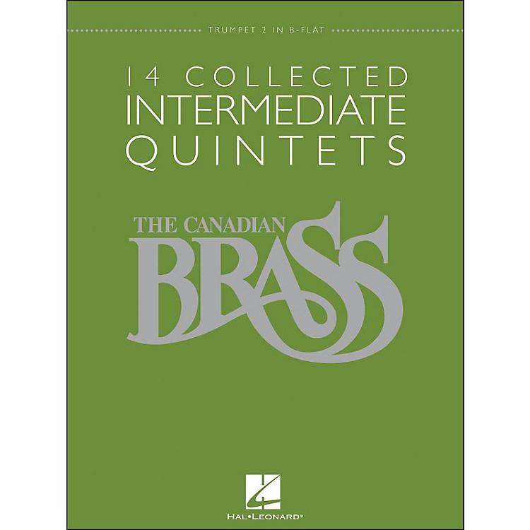 Hal LeonardThe Canadian Brass: 14 Collected Intermediate Quintets - Trumpet 2 - Brass Quintet