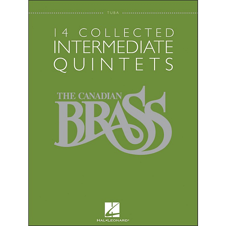 Hal Leonard The Canadian Brass: 14 Collected Intermediate Quintets Songbook - Tuba