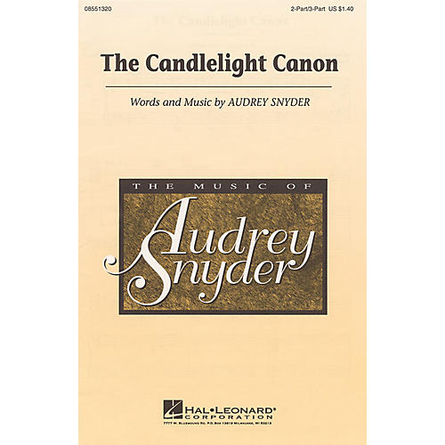 Hal Leonard The Candlelight Canon 2 Part / 3 Part composed by Audrey Snyder