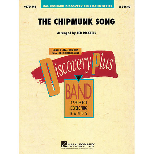 Hal Leonard The Chipmunk Song - Discovery Plus Concert Band Series Level 2 arranged by Ted Ricketts-thumbnail