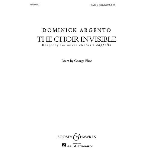 Boosey and Hawkes The Choir Invisible (Rhapsody for Mixed Chorus) SATB composed by Dominick Argento-thumbnail