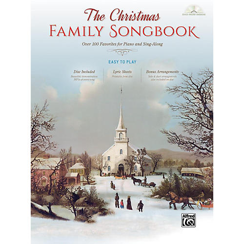 Alfred The Christmas Family Songbook Hardcover Easy Piano/Vocal Book & DVD-ROM-thumbnail