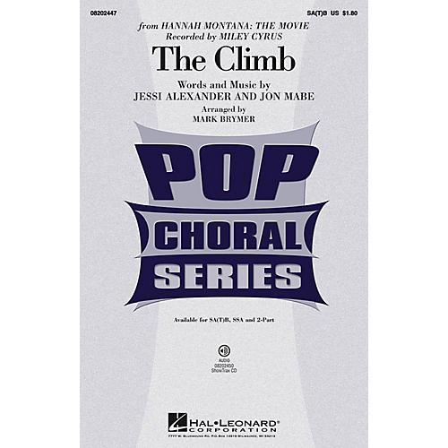 Hal Leonard The Climb SA(T)B by Miley Cyrus arranged by Mark Brymer-thumbnail