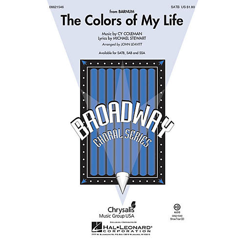 Hal Leonard The Colors of My Life (from Barnum) SAB Arranged by John Leavitt-thumbnail