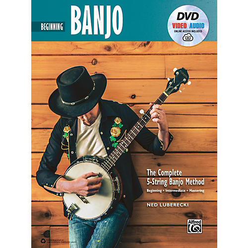 Alfred The Complete 5-String Banjo Method: Intermediate Banjo, Book & Online Audio & Video-thumbnail