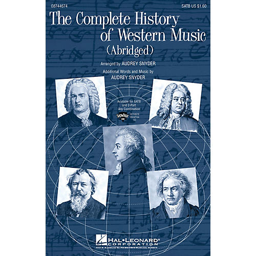 Hal Leonard The Complete History of Western Music (Abridged) ShowTrax CD Arranged by Audrey Snyder