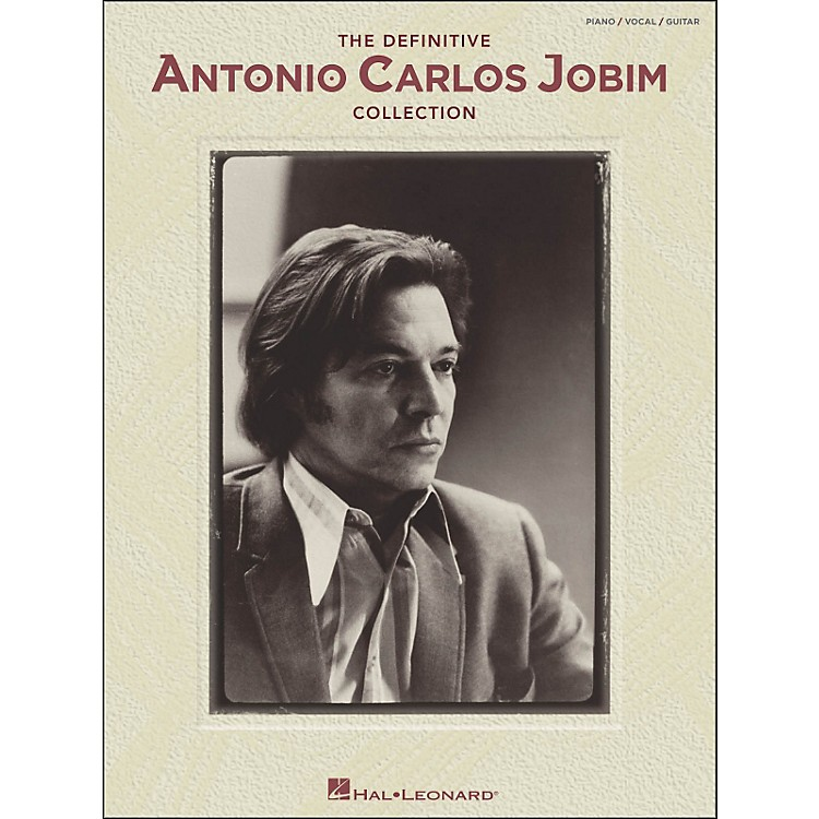 Hal Leonard The Definitive Antonio Carlos Jobim Collection arranged for piano, vocal, and guitar (P/V/G)