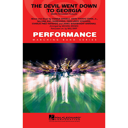 Hal Leonard The Devil Went Down to Georgia (Mallet Percussion Feature) Marching Band Level 4 Arranged by Will Rapp-thumbnail