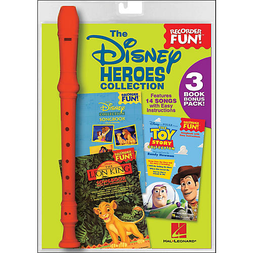 Hal Leonard The Disney Heroes Collection - Recorder Fun! 3-Book Bonus Pack
