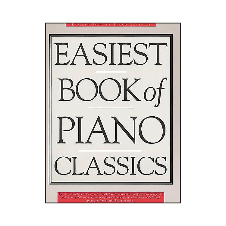 Music Sales The Easiest Book Of Piano Classics