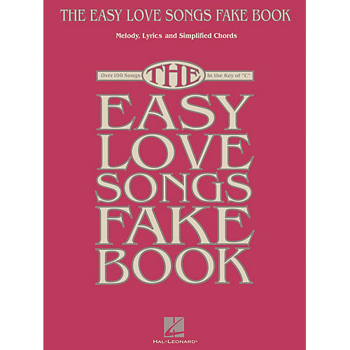 Hal Leonard The Easy Love Songs Fake Book Easy Fake Book Series Softcover-thumbnail