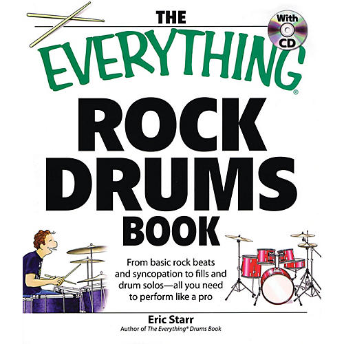 Adams Media The Everything Rock Drums Book Book Series Softcover with CD Written by Eric Starr-thumbnail