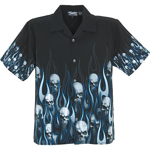Dragonfly Clothing Company The Family Flame Skull Shirt-thumbnail
