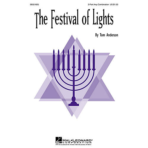 Hal Leonard The Festival of Lights 2-Part any combination arranged by Tom Anderson-thumbnail