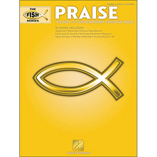 Hal Leonard The Fish Series - Praise (Yellow Book) arranged for piano, vocal, and guitar (P/V/G)-thumbnail