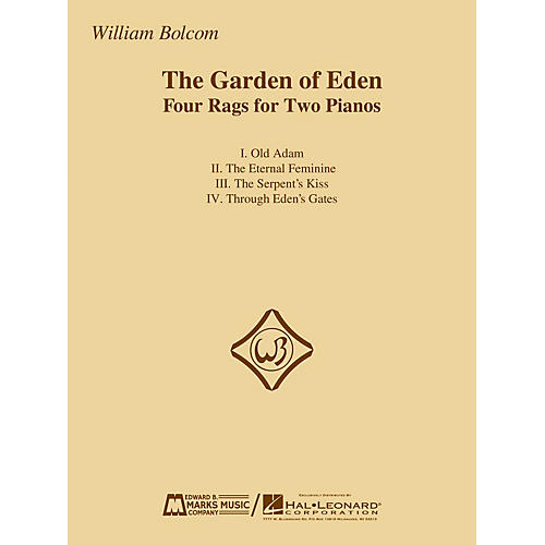 Edward B. Marks Music Company The Garden of Eden (Four Rags for Two Pianos) E.B. Marks Series Softcover Composed by William Bolcom-thumbnail
