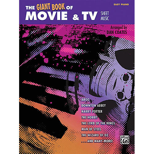 Alfred The Giant Book of Movie & TV Sheet Music Easy Piano Book