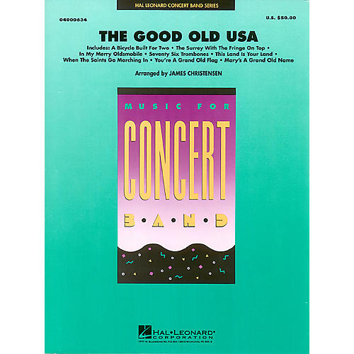 Hal Leonard The Good Old USA Concert Band Level 4 Arranged by James Christensen-thumbnail