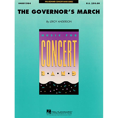 Hal Leonard The Governor's March Concert Band Level 4 Composed by Leroy Anderson-thumbnail