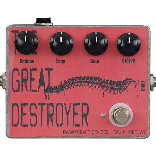 Dwarfcraft The Great Destroyer Distortion Guitar Effects Pedal