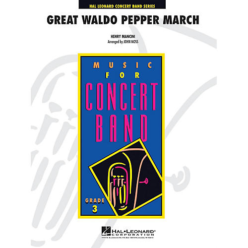 Hal Leonard The Great Waldo Pepper March - Young Concert Band Level 3 by John Moss