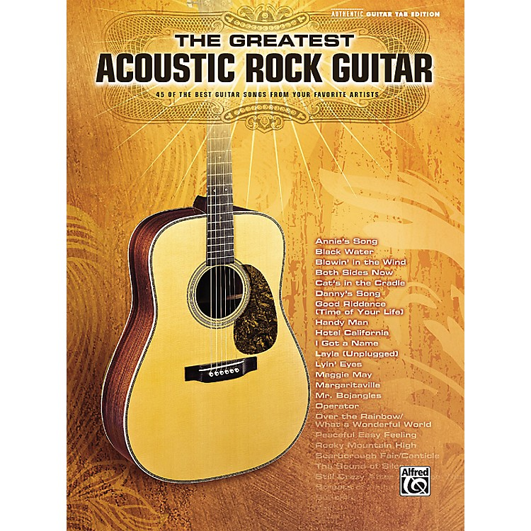 Hal Leonard The Greatest Acoustic Rock Guitar Book