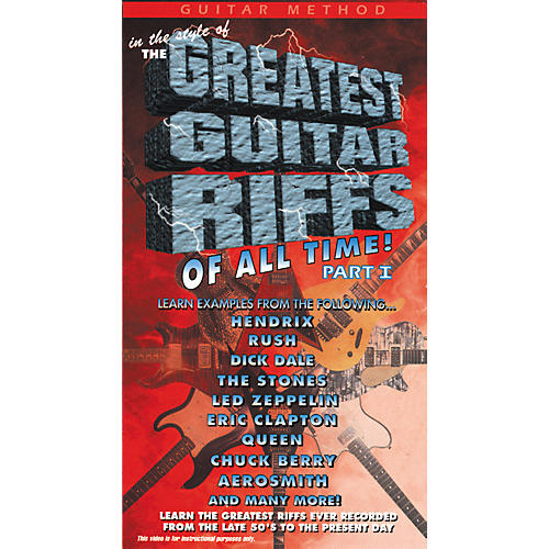 MVP The Greatest Guitar Riffs of All Time VHS