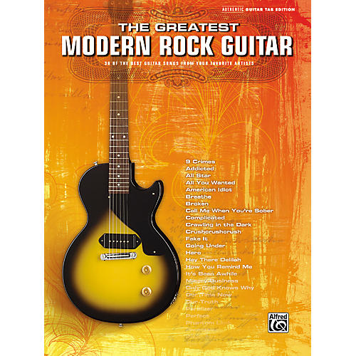 Alfred The Greatest Modern Rock Guitar Tab Songbook