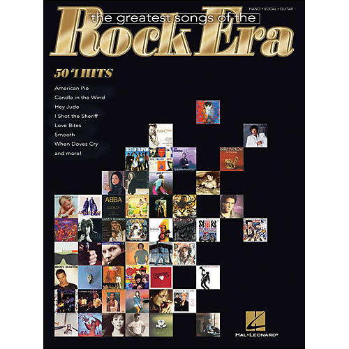 Hal Leonard The Greatest Songs Of The Rock Era - 50 #1 Hits arranged for piano, vocal, and guitar (P/V/G)-thumbnail