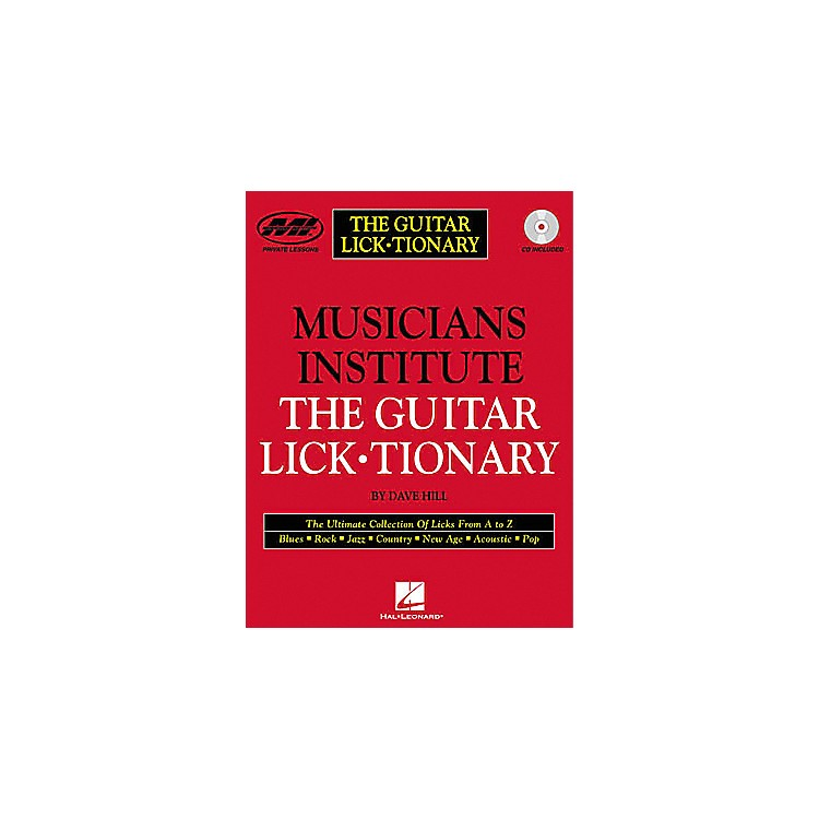 Musicians Institute The Guitar Lick Tionary (Book/CD)