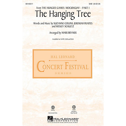 Hal Leonard The Hanging Tree (from The Hunger Games: Mockingjay Part I) SAB arranged by Mark Brymer-thumbnail