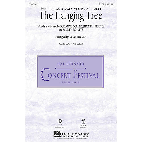 Hal Leonard The Hanging Tree (from The Hunger Games: Mockingjay Part I) SATB arranged by Mark Brymer-thumbnail