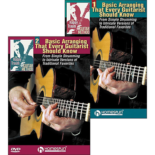 Homespun The Happy Traum Guitar Method: Basic Arranging Techniques DVD Set (1 & 2)
