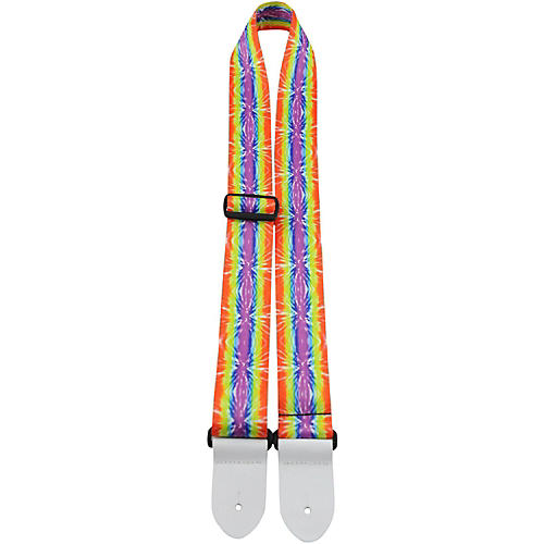 Perri's The Hippy Collection Polyester Guitar Straps Colorful Hippy 39 to 58 in.