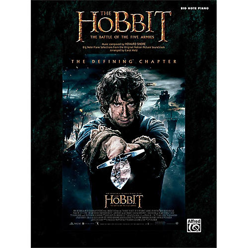 Alfred The Hobbit: The Battle of the Five Armies Big Note Piano Songbook