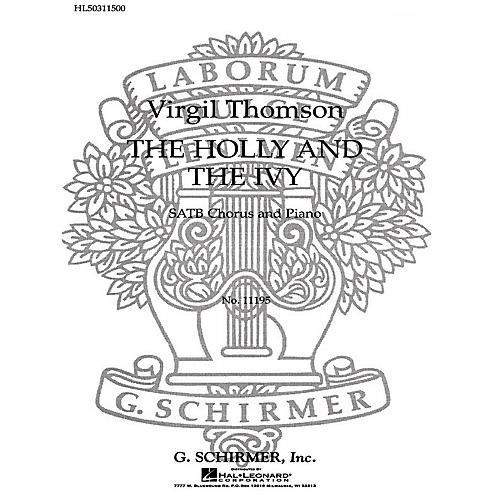 G. Schirmer The Holly and the Ivy SATB composed by V Thomson-thumbnail