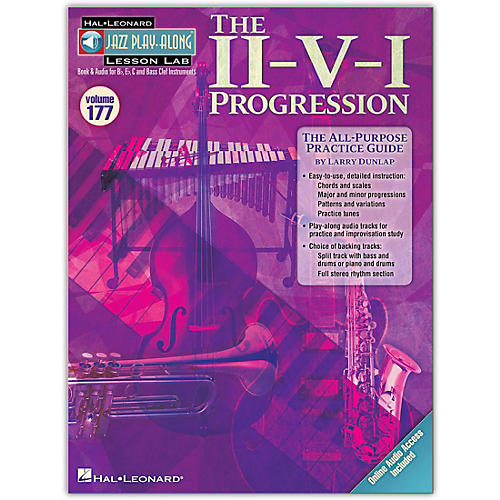 Hal Leonard The II-V-I Progression - Jazz Play-Along Lesson Lab Vol. 177 Book/Online Audio-thumbnail
