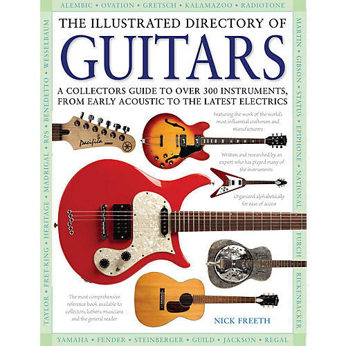 Hal Leonard The Illustrated Directory Of Guitars hard cover book-thumbnail