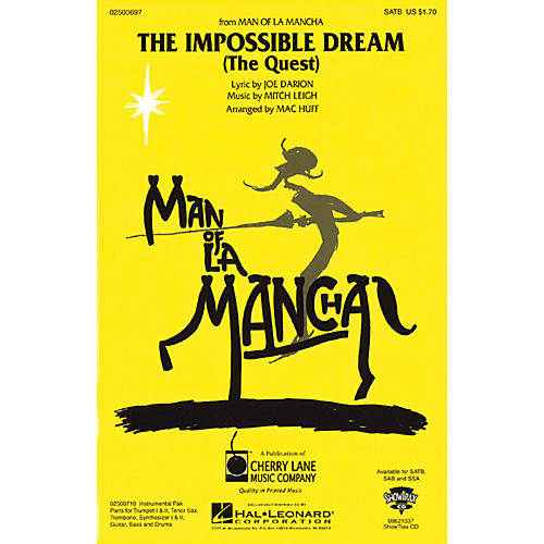 Cherry Lane The Impossible Dream (from Man of La Mancha) SSA Arranged by Mac Huff-thumbnail