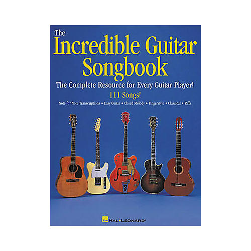 Hal Leonard The Incredible Guitar Songbook Book