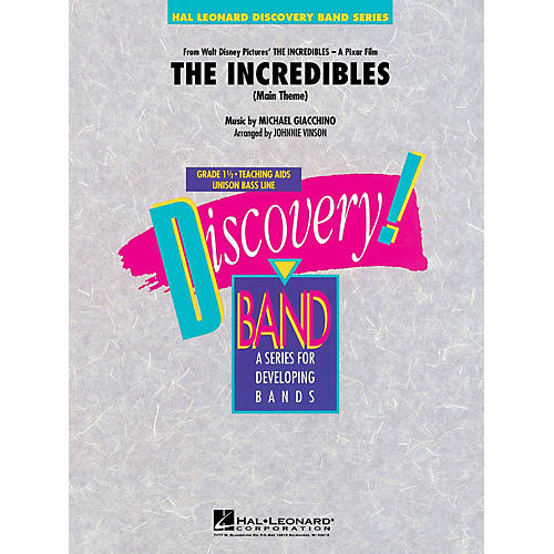 Hal Leonard The Incredibles Concert Band Level 1.5 Arranged by Johnnie Vinson-thumbnail