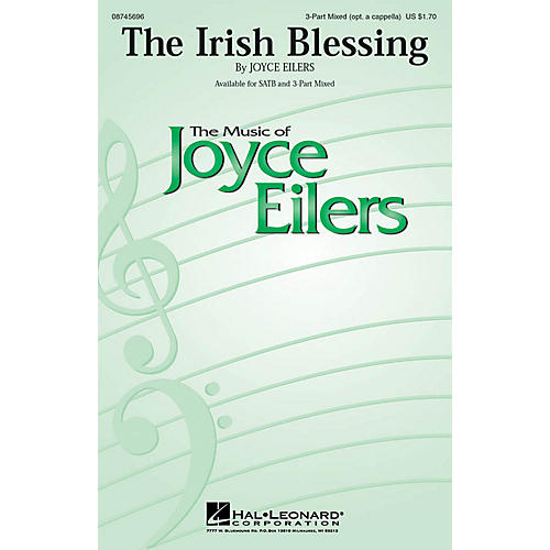 Hal Leonard The Irish Blessing 3-Part Mixed opt. a cappella composed by Joyce Eilers