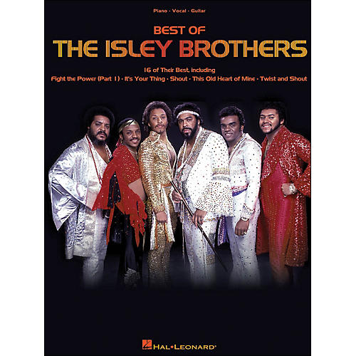 Hal Leonard The Isley Brothers Best Of arranged for piano, vocal, and guitar (P/V/G)