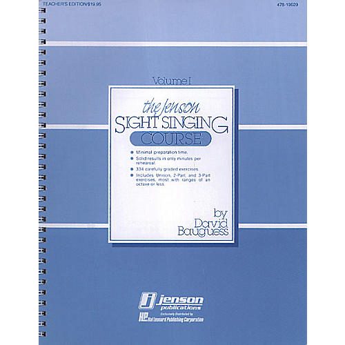 Hal Leonard The Jenson Sight Singing Course (Vol. I) TEACHER ED composed by David Bauguess-thumbnail